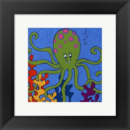 Framed Olly Octopus Print