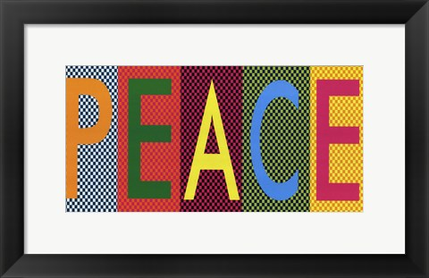 Framed Peace - Bright Colors Print