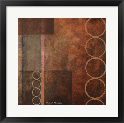 Framed Circles in the Abstract I Print