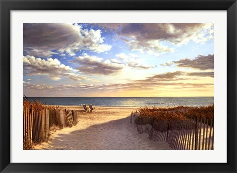Framed Sunset Beach Print