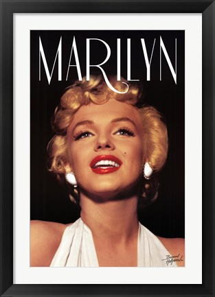 Framed Marilyn Monroe - Head Shot Print