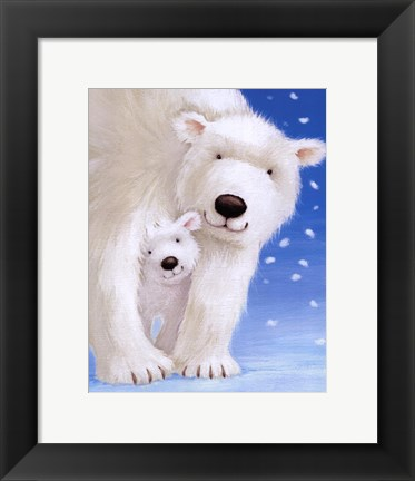Framed Fluffy Bears I Print