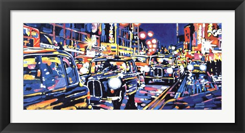 Framed Black Cabs, London Print