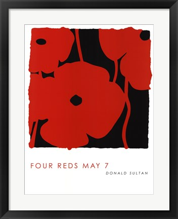 Framed Four Reds May 7 Print