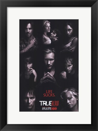 Framed True Blood - RARE Season 2 Character Poster Print