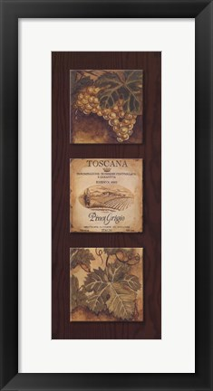 Framed Wine Country Panel I Print