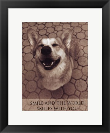 Framed Smile and the World Smiles with You Print