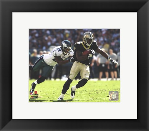Framed Marques Colston 2009 Action Print