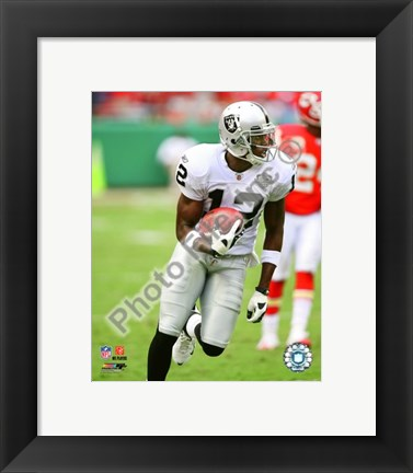 Framed Darrius Heyward-Bey 2009 Action In Play Print