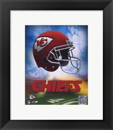 Framed 2009 Kansas City Chiefs Team Logo Print
