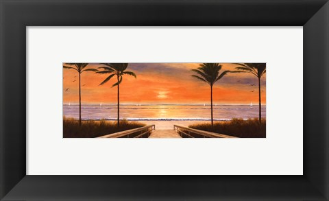 Framed Beach Winds Print