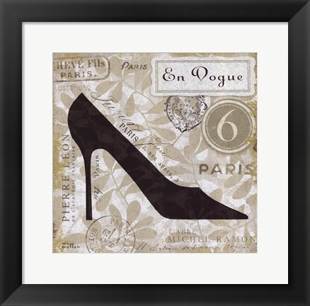 Framed Chaussures I Print