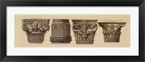 Framed Capitals I, (The Vatican Collection) Print