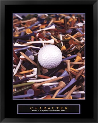 Framed Character - Golf Tees Print