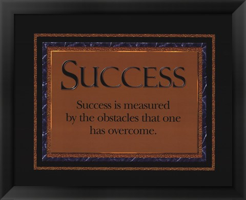Framed Success quote Print