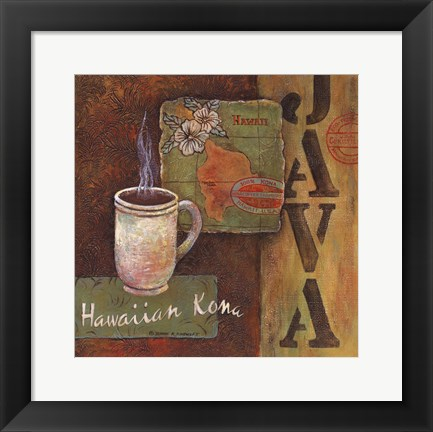Framed Coffees of the World - Hawaii Print