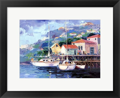 Framed Mediterranean Sunset Print