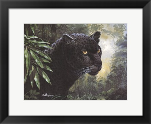 Framed Black Panther Print