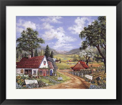 Framed Sweet Water Farm Print