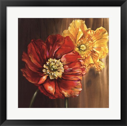 Framed Poppies - square Print