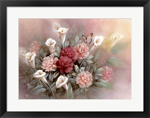Framed Carnations Print