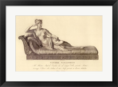 Framed Reclining Lady (recto), The Vatican Collection Print