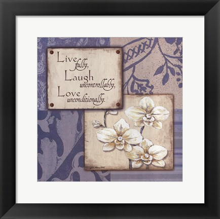 Framed Live Laugh Love Uncontrollably Print