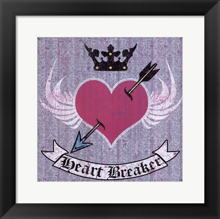 Framed Heart Breaker Print
