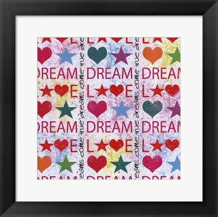 Framed Dream and Love Print