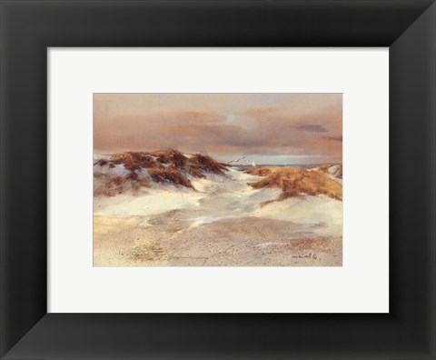 Framed Shore Patterns Print