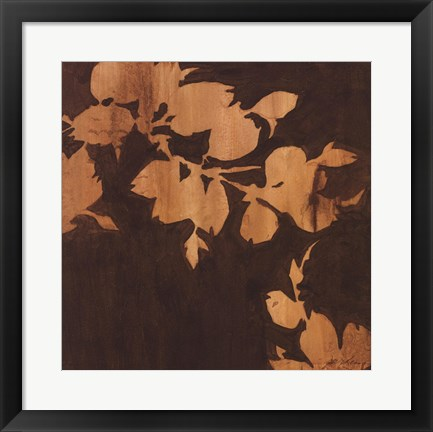 Framed Falling Leaves II Print