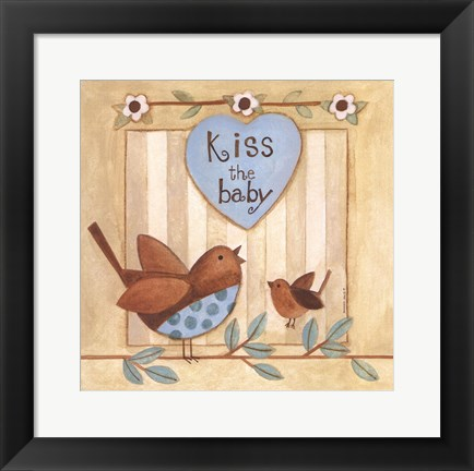 Framed Kiss the Baby Print