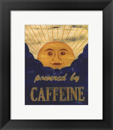 Framed Powered by Caffeine Print