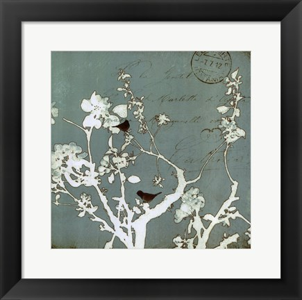 Framed Song Birds IV - mini Print