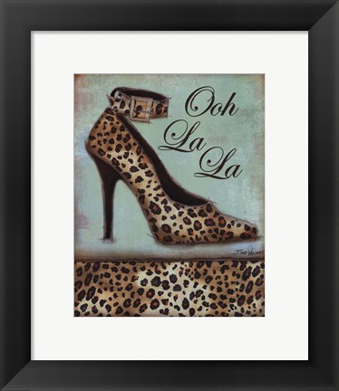Framed Leopard Shoe - mini Print