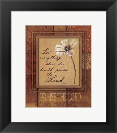 Framed Praise The Lord Print