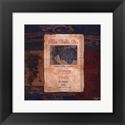 Framed Gamay Wine Label Print