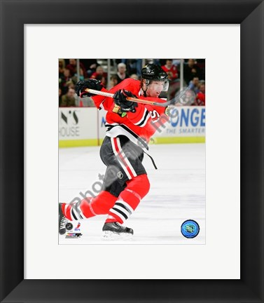 Framed Brian Campbell 2009-10 Action Print