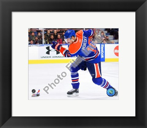 Framed Shawn Horcoff 2009-10 Action Print