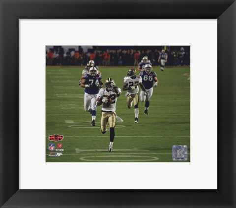 Framed Tracy Porter Super Bowl XLIV Interception & Touchdown Return (#6) Print