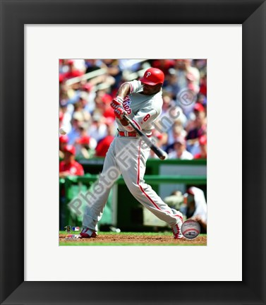 Framed Ryan Howard 2010 Action Print