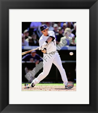 Framed Troy Tulowitzki 2010 Action Print