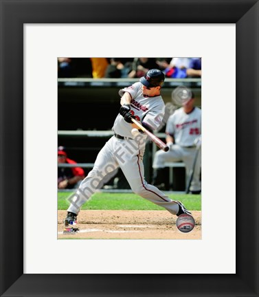 Framed Justin Morneau 2010 Action Print