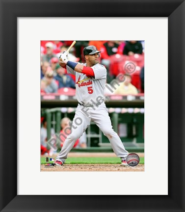 Framed Albert Pujols 2010 Action Print