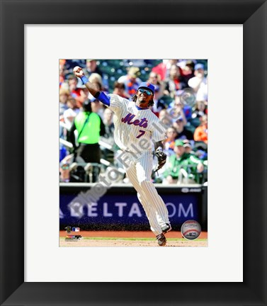 Framed Jose Reyes 2010 Action Print
