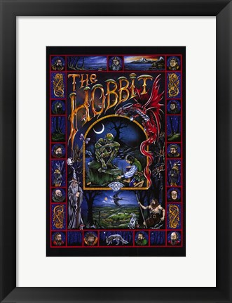 Framed Hobbit, animated - style C Print