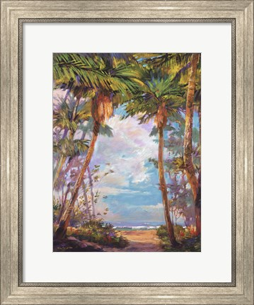 Framed Path To Paradise I - petite Print
