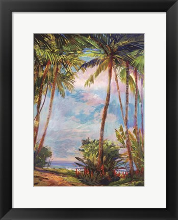 Framed Path To Paradise II - petite Print