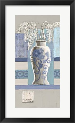 Framed Blue Asian Collage II Print