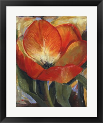 Framed Summer Tulips I Print